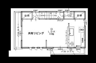 東京ゲーミングシェアハウス 2階 間取り図