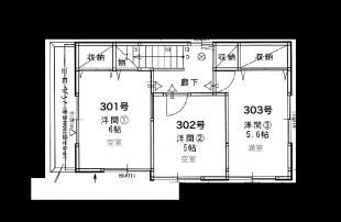 東京ゲーミングシェアハウス 3階 間取り図